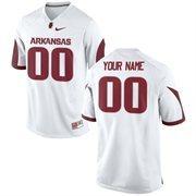 Mens Arkansas Razorbacks Nike White Custom Replica Jersey