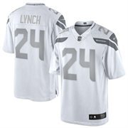 Men's Seattle Seahawks Marshawn Lynch Nike White Platinum Limited Jersey