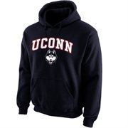 UConn Huskies Midsize Arch Pullover Hoodie - Navy Blue