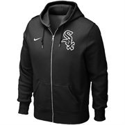 Mens Chicago White Sox Nike Black Classic Full Zip Hoodie 1.2