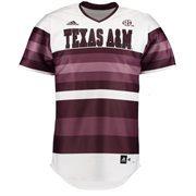 Men's adidas White Texas A&M Aggies Authentic Baseball Jersey