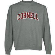 Cornell Big Red Arch Name Sweatshirt - Gunmetal