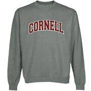 Cornell Big Red Arch Name Sweatshirt - Gunmetal