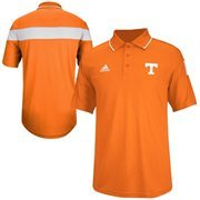 Mens Tennessee Volunteers adidas Orange Coaches ClimaLITE Polo