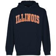 Mens Illinois Fighting Illini Navy Blue Bold Arch Hoodie