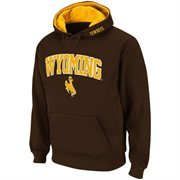 Mens Wyoming Cowboys Brown Classic Arch Logo Twill Hoodie