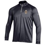 Men's Idaho Vandals Under Armour Black Performance Quarter-Zip T-Shirt