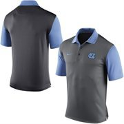 Men's Nike Gray North Carolina Tar Heels 2015 Coaches Preseason Sideline Polo