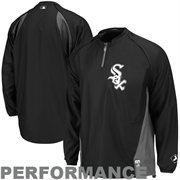 Majestic Chicago White Sox 2014 Authentic On-Field Triple Peak Gamer Jacket - Black