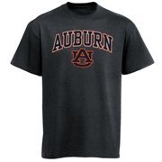 Mens Charcoal Auburn Tigers Arch Over Logo T-Shirt