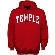 Mens Temple Owls Cherry Bold Arch Hoodie