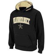 Mens Vanderbilt Commodores Black Classic Arch Logo Twill Hoodie