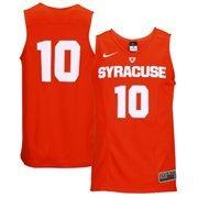 Men's Nike No. 10 Orange Syracuse Orange Hyper Elite Authentic Basketball Jersey