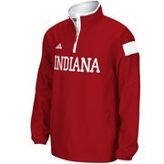 Mens Indiana Hoosiers adidas Crimson 2014 Football Sideline Coaches Quarter-Zip Long Sleeve Woven Jacket