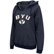 Women's BYU Cougars Navy Blue Sierra Pullover Hoodie
