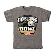 Mens Iowa Hawkeyes vs. Tennessee Volunteers Ash 2015 TaxSlayer Bowl Dueling Tri-Blend T-Shirt