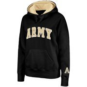 Army Black Knights Ladies Arch Logo Pullover Hoodie - Black