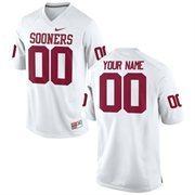 Men's Nike White Oklahoma Sooners Custom Game Jersey
