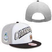 Men's New Era White Notre Dame Fighting Irish 2015 ACC Men's Basketball Conference Tournament Champions Locker Room Adjustable H