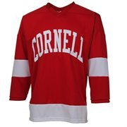 Cornell Big Red Twill Hockey Jersey - Carnelian/White