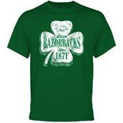 Arkansas Razorbacks Four Leaf Seal T-Shirt - Green