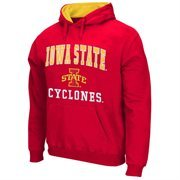 Mens Iowa State Cyclones Cardinal Arch & Logo Mascot Pullover Hoodie
