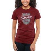 Women's Montana Grizzlies Maroon 2015 Big Sky Women's Basketball Conference Tournament Champions Slim Fit T-Shirt