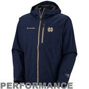 Columbia Notre Dame Fighting Irish Hail Tech Full Zip Performance Jacket - Navy Blue