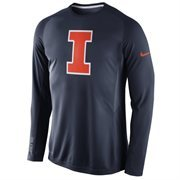 Men's Nike Navy Blue Illinois Fighting Illini Disruption 2015 Basketball Shooting Dri-FIT Long Sleeve Shirt