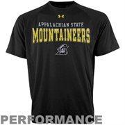 Under Armour Appalachian State Mountaineers HeatGear Performance T-Shirt - Black