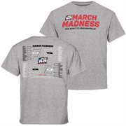 Youth Gray 2015 NCAA Men's Basketball Tournament Bracket Town T-Shirt