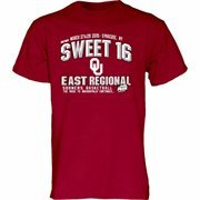 Men's Crimson Oklahoma Sooners 2015 NCAA Men's Basketball Tournament Sweet 16 T-Shirt