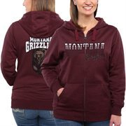 Women's Montana Grizzlies Maroon Marled Full Zip Hoodie