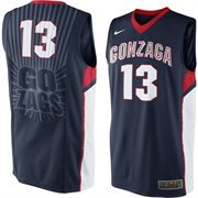 Nike Gonzaga Bulldogs Elite Replica Basketball Jersey - Navy Blue