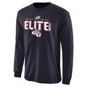 Men's Navy Blue Gonzaga Bulldogs 2015 NCAA Men's Basketball Tournament ELITE 8 Long Sleeve T-Shirt