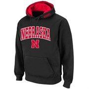 Nebraska Cornhuskers Arch Logo Pullover Hoodie Sweatshirt - Black