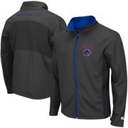 Mens Boise State Broncos  Charcoal Boulder Full Zip Jacket