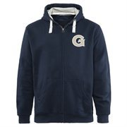 Mens Georgetown Hoyas Navy Blue Gridiron Logo Lefty Full Zip Hoodie