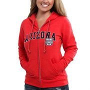 Arizona Wildcats Women's Locker Room Zip - Cardinal