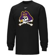 Nike East Carolina Pirates 2014 New Logo Classic Long Sleeve T-Shirt - Black