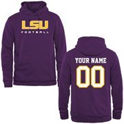 LSU Tigers Personalized Football Pullover Hoodie - Purple