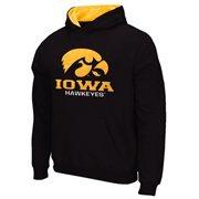 Iowa Hawkeyes Logo & School Pullover Hoodie - Black