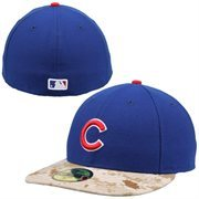 Men's New Era Royal Chicago Cubs 2015 Memorial Day Stars and Stripes On-Field Low Crown 59FIFTY Fitted Hat