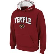 Mens Temple Owls Cherry Classic Arch Logo Twill Hoodie