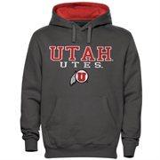Mens Utah Utes Charcoal 3 Stack II Pullover Hoodie