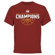 Men's Cardinal Iowa State Cyclones 2015 Big 12 Men's Basketball Conference Tournament Champions T-Shirt