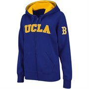 Women's UCLA Bruins True Blue Classic Arch Full Zip Hooded Sweatshirt