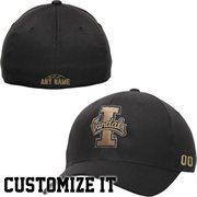 Idaho Vandals Fundamental Personalized Basketball Name & Number Structured Flex Hat - Black