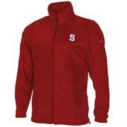 Columbia North Carolina State Wolfpack Flanker Full Zip Fleece Jacket - Red
