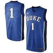 Nike Duke Blue Devils #1 Elite Replica Basketball Jersey - Duke Blue